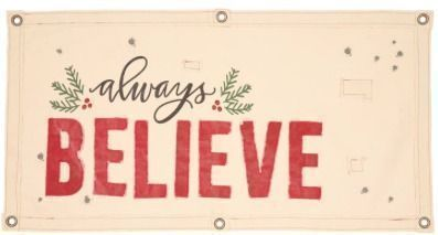 PRIMITIVES BY KATHY Always Believe Wall Hanging