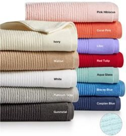 Martha Stewart Collection Quick Dry Reversible Bath Towels