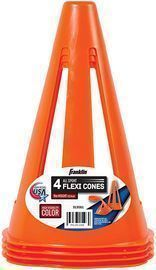 Franklin Sports 9 Flexible Soccer Cones, 4pk