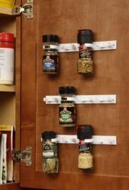 Spice Gripper Clip Strips for Plastic Jars - Set of 3, Holds 12 Jars