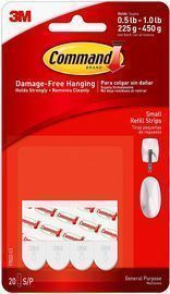 Command Small Refill Strip 20-Pack