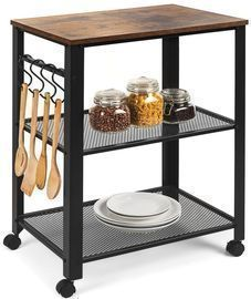 3-Tier Microwave Cart Rolling Utility Serving Cart