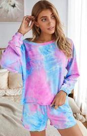 Tie Dye Print Sleepwear