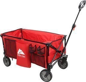 Ozark Trail Camping Utility Wagon with Tailgate & Extension Handle