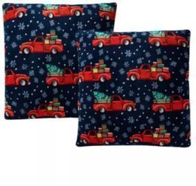 Holiday Print Plush 18 Decorative Pillow 2-Pack