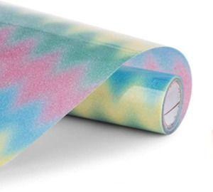 Rainbow Glitter Heat Transfer Vinyl 12x5'