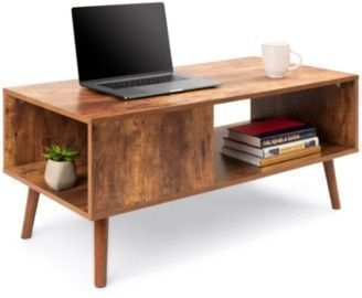 Wooden Mid-Century Modern Coffee Accent Table