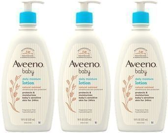 3 Pack of Aveeno Baby Daily Moisture Lotion