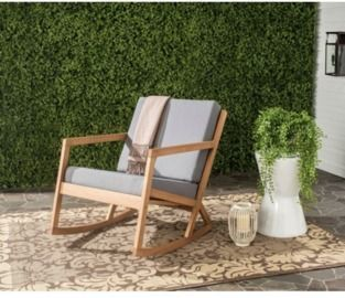 Indoor/Outdoor Modern Rocking Chair with Cushion