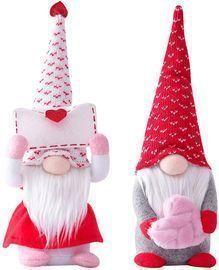 2PCS Valentines Gnomes