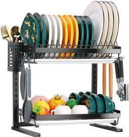 2-Tier Dish Drying Rack with Drainboard Set