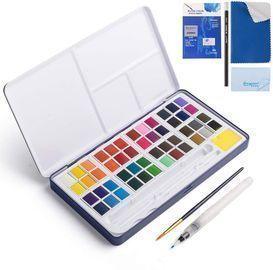 Watercolor Paint Set, 48 Color