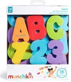 Munchkin Letters and Numbers Bath Toys