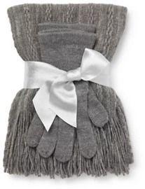 2-Piece Scarf & Gloves Set