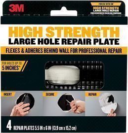 3M High Strength Large Hole Repair Plate 4-Pack