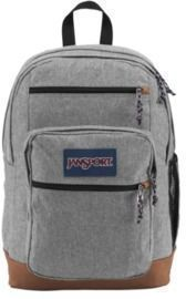 JanSport Cool Student Backpack With 15 Laptop Pocket, Gray Letterman Poly