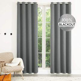 Linen Textured 100% Blackout Curtains