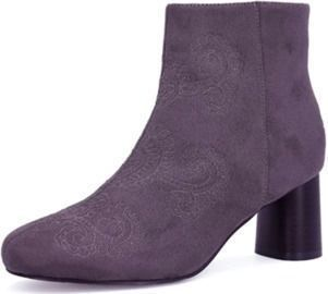 Embroidery Boots Mid Heel