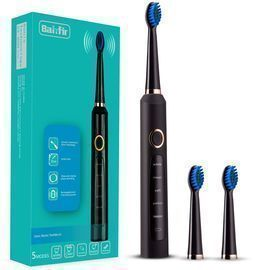 Sonic Electric Toothbrush w/ 3 Replacement Heads