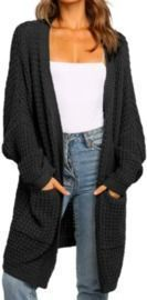 Oversized Duster with Pocket