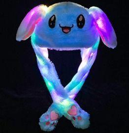 LED Plush Ear Moving Bunny Hat