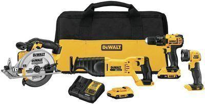 DeWALT 20V MAX Combo 4-Tool Compact Kit (DCK423D2)