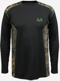 Realtree Men's First Watch Long Sleeve Poly Tee