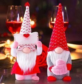 Holiday 2 Pack Gnome Plush Decorations