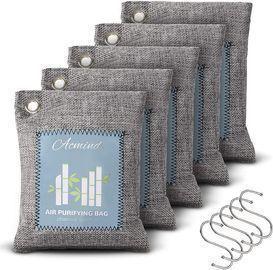 Bamboo Charcoal Air Purifying Bag 5 Pack