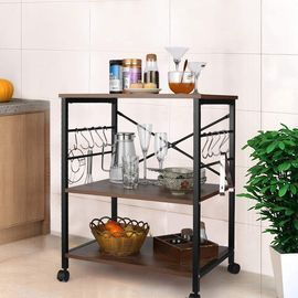 3-Tier Kitchen Bakers Rack On Wheels