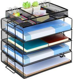 Letter Tray Organizer -5 Tiers