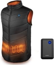 Lightweight Heated Vest with 7.4V 10000mAh Battery Pack