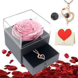 Valentines Rose & Necklace 4 in 1 Gift Pack
