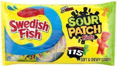 Sour Patch Kids Candy & Swedish Fish Snack Packs, Assorted