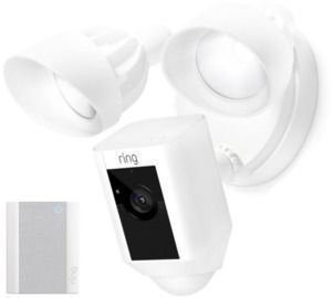 Ring Security Floodlight Cam & Ring Chime Pro with Ring Assist+