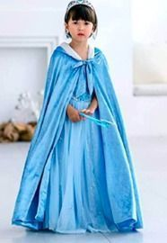 Full Length Deluxe Princess Hooded Cape Cloaks