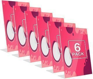 Clear Sign Plastic Paper Holder - 6 Pack