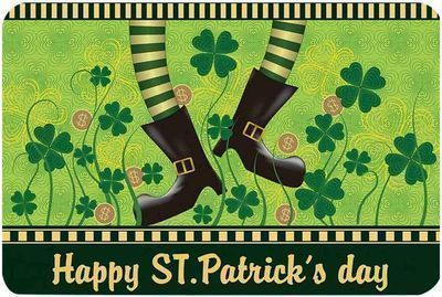 St. Patrick's Day Welcome Doormats