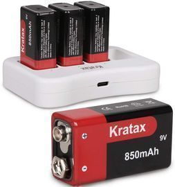 9v Rechargeable Battery and Charger