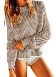 Scoop Neck Chunky Knit Sweater