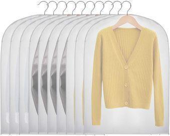 Hanging Garment Bags- 10 Pack