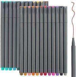 24 Fineliner Color Pens Set