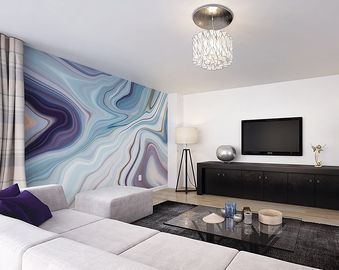 OhPopsi Marbled Ink Wall Mural