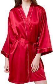Color Satin Kimono Robe
