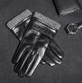 Mens Cashmere Lined Leather Gloves