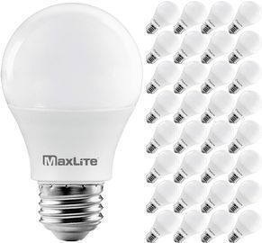 32-Pack MaxLite A19 800 Lumen 60W Equivalent Dimmable LED Bulbs