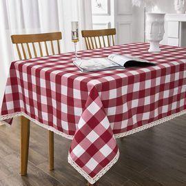 Rectangle Checkered Tablecloth