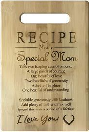 MOM Love Poem Small Bamboo Cutting Board