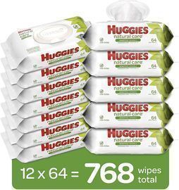 768 Pack of Huggies Natural Care Sensitive Baby Wipes