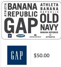 $50 Gap Gift Card